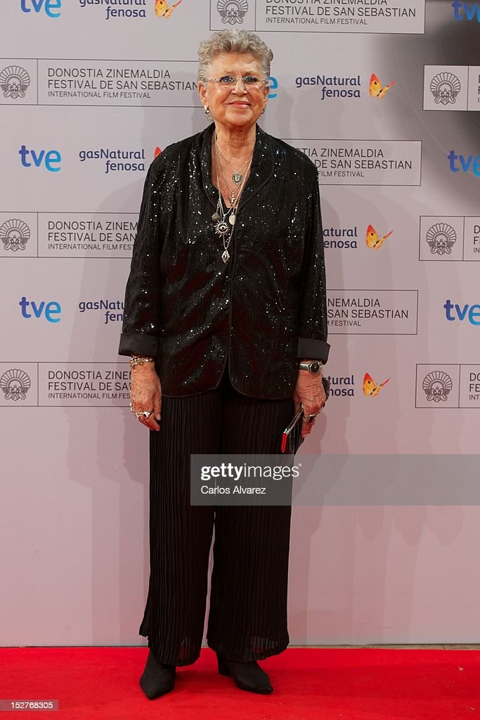 Spanish actress <a gi-track='captionPersonalityLinkClicked' href=/galleries/search?phrase=Pilar+Bardem&family=editorial&specificpeople=605765 ng-click='$event.stopPropagation()'>Pilar Bardem</a> attends the 'Venuto al Mondo' (Volver A Nacer) premiere at the Kursaal Palace during the 60th San Sebastian International Film Festival on September 25, 2012 in San Sebastian, Spain.