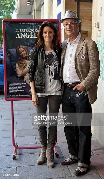 Spanish actress Pilar Lopez de Ayala and producer Luis Minarro attend 'El Extrano Caso de Angelica' photocall at Cinema Verdi on May 16 2011 in...