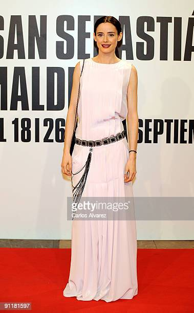 Spanish actress Pilar Lopez de Ayala attends the 57th San Sebastian Film Festival closing ceremony at the Kursaal Palace on September 26 2009 in San...