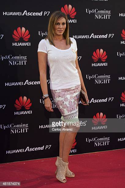 Spanish actress Raquel Rodriguez attends Huawei Ascend P7 cocktail party at the Pastrana Palace on July 1 2014 in Madrid Spain