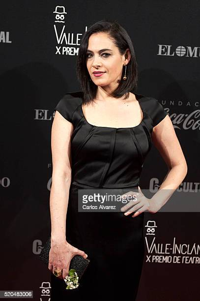 Spanish actress Rocio Munoz attends the 10th ValleInclan Theatre awards at the Royal Theatre on April 11 2016 in Madrid Spain