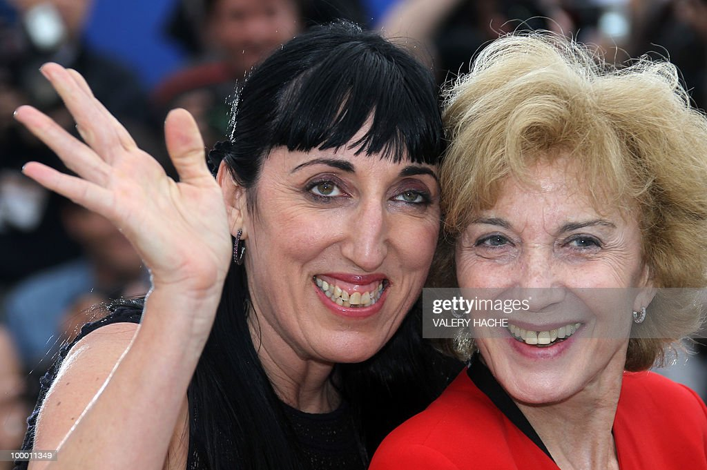 Spanish actress Rossy de Palma (L) and Marisa Paredes pose during the photocall in homage to Spanish cinema at the 63rd Cannes Film Festival on May 15, 2010 in Cannes.