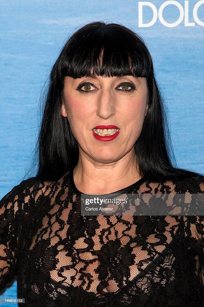 Spanish actress Rossy de Palma attends Mediterranean Summer Cocktail By Dolce & Gabbana at the Santo Mauro Hotel on May 29, 2013 in Madrid, Spain.