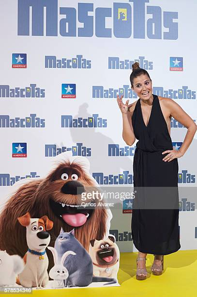 Spanish actress Ruth Armas attends 'Mascotas' premiere at Kinepolis cinema on July 21 2016 in Madrid Spain
