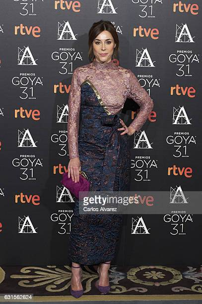 Spanish actress Ruth Diaz attends the Goya cinema awards candidates 2016 cocktail at the Ritz Hotel on January 12 2017 in Madrid Spain