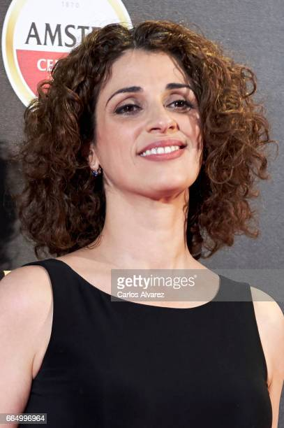 Spanish actress Ruth Gabriel attends 'El Pelotari Y La Fallera' premiere at the Callao cinema on April 5 2017 in Madrid Spain