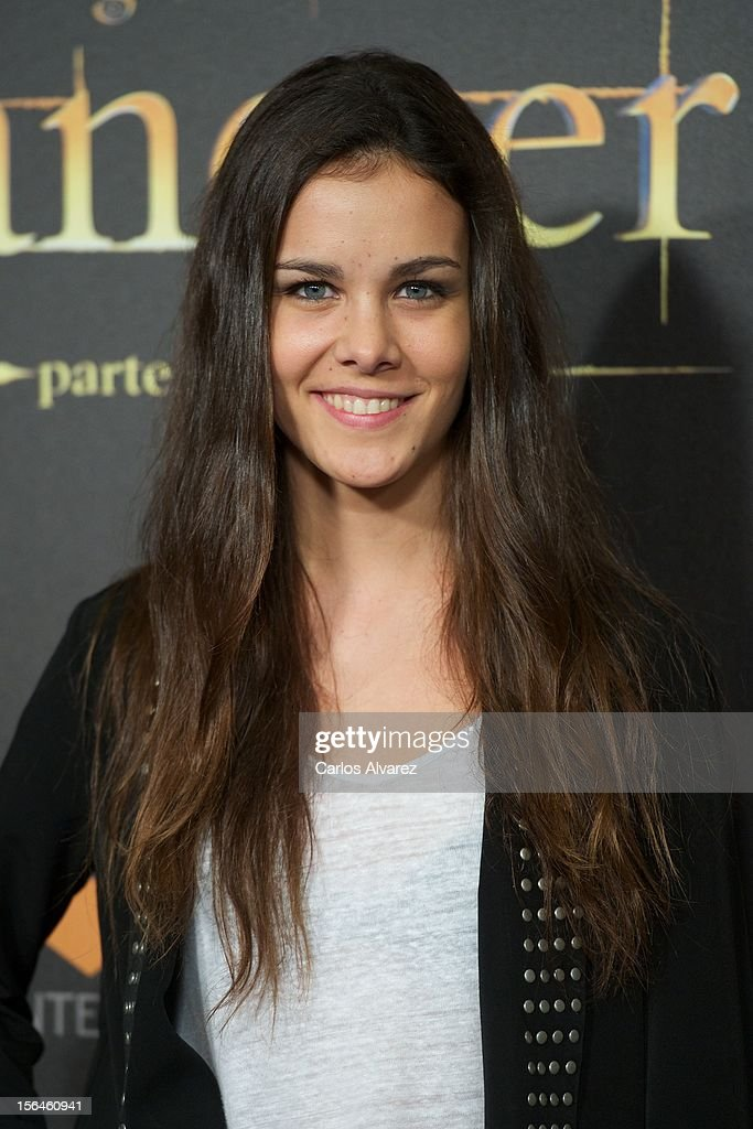 Spanish actress Sandra Blazquez attends the 'The Twilight Saga: Breaking Dawn - Part 2' (La Saga Crepusculo: Amanecer Parte 2) premiere at the Kinepolis cinema on November 15, 2012 in Madrid, Spain.