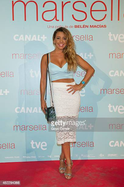 Spanish actress Sandra Cervera attends 'Marsella' premiere at the Capitol cinema on July 17 2014 in Madrid Spain