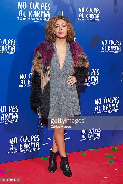 Spanish actress Sandra Cervera attends 'No Culpes al Karma De lo Que Te Pasa Por Gilipollas' premiere at Callao cinema on November 8 2016 in Madrid...