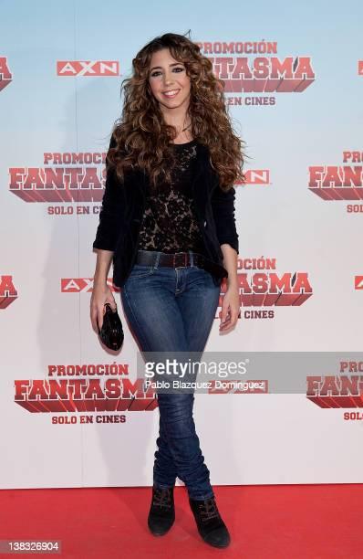 Spanish actress Sandra Cervera attends 'Promocion Fantasma' premiere at Capitol Cinema on February 2 2012 in Madrid Spain
