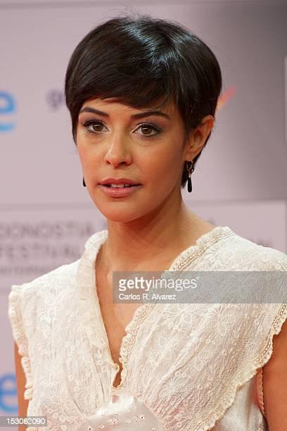Spanish actress Sara Casasnovas attends the 60th San Sebastian International Film Festival closing ceremony on September 29 2012 in San Sebastian...