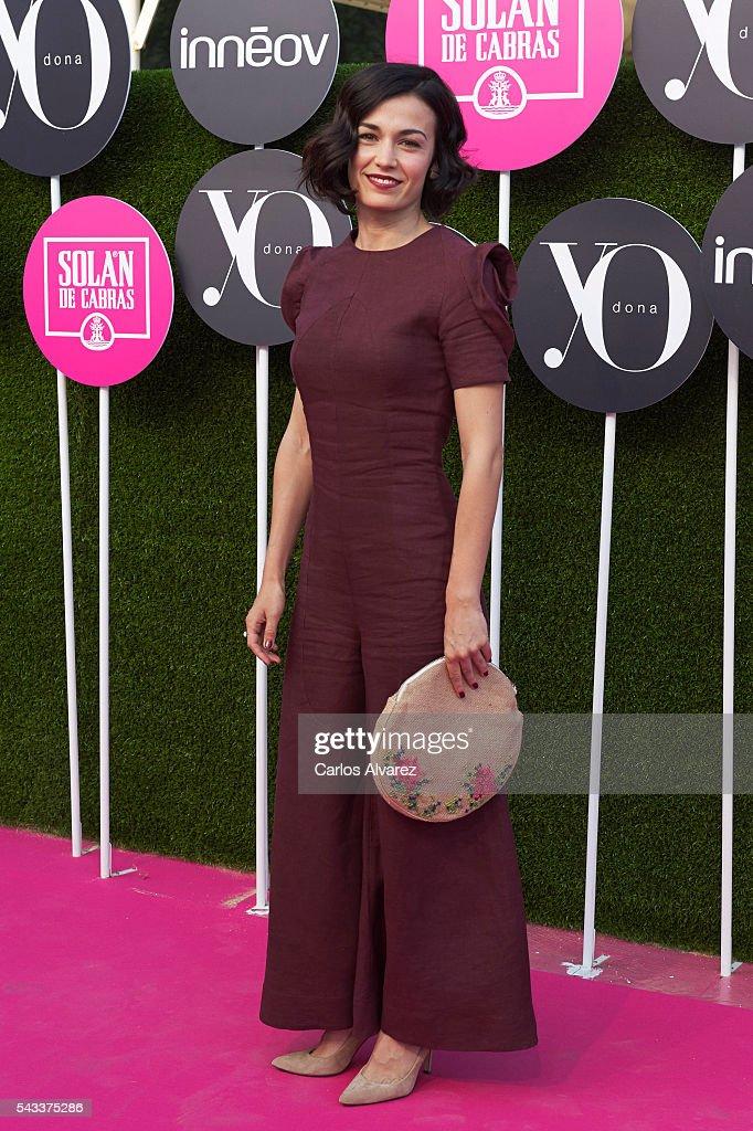 Spanish actress Sara Rivero attends 'Yo Dona' International awards on June 27, 2016 in Madrid, Spain.