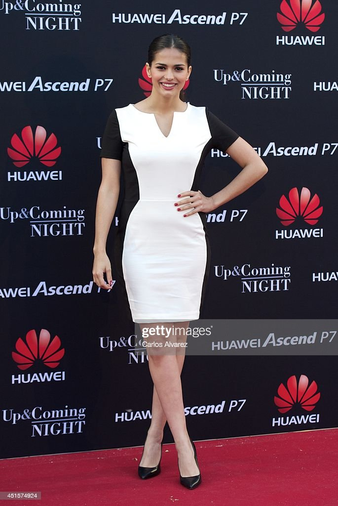 Spanish actress Sara Salamo attends Huawei Ascend P7 cocktail party at the Pastrana Palace on July 1, 2014 in Madrid, Spain.