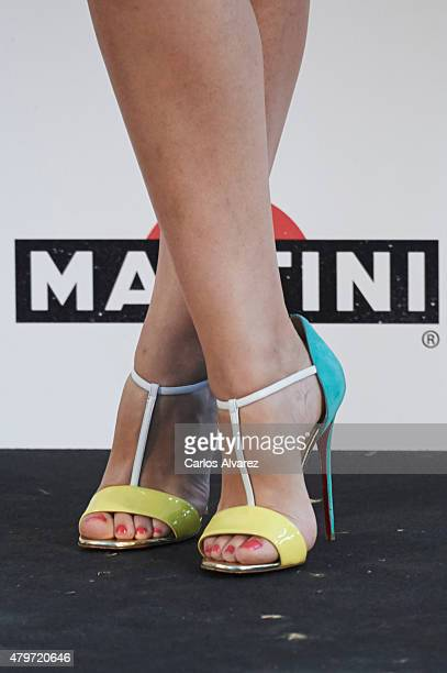 Spanish actress shoes detail Nerea Garmendia attends the Elle Gourmet Awards 2015 at the Italian Embassy on July 6 2015 in Madrid Spain