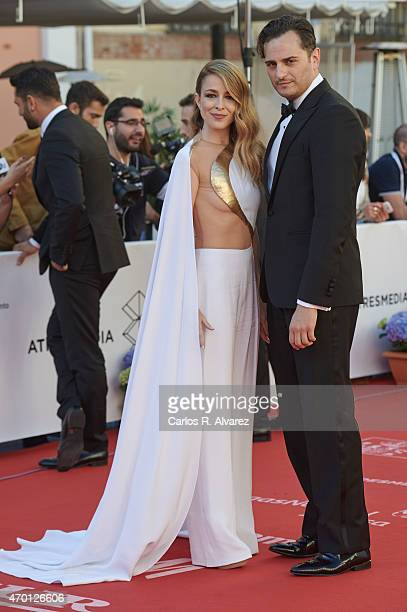 Spanish actress Silvia Abascal and actor Asier Etxeandia attend the 18th Malaga Film Festival opening ceremony at the Cervantes Theater on April 17...