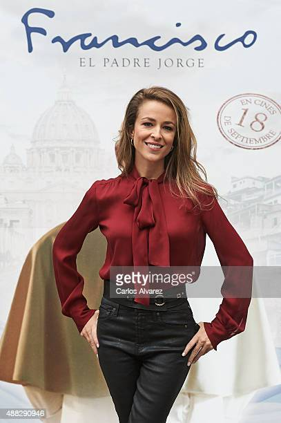 Spanish actress Silvia Abascal attends 'Francisco' photocall at the Princesa cinema on September 15 2015 in Madrid Spain