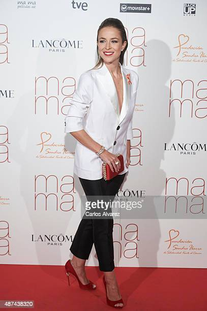Spanish actress Silvia Abascal attends 'Ma Ma' premiere at the Capitol cinema on September 9 2015 in Madrid Spain