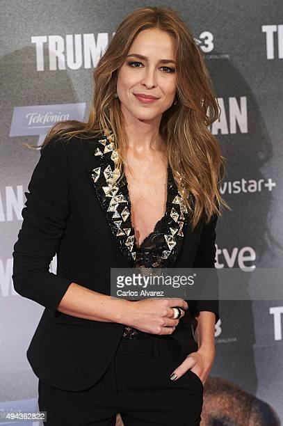 Spanish actress Silvia Abascal attends the 'Truman' premiere at the Palafox cinema on October 26 2015 in Madrid Spain