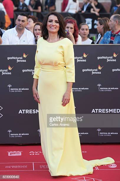 Spanish actress Silvia Abril attends the 19th Malaga Spanish Film Festival open ceremony at the Cervantes Theater on April 22 2016 in Malaga Spain