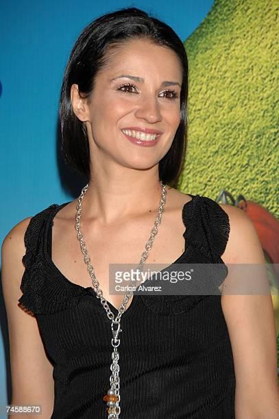 Spanish actress Silvia Jato attends the premiere of 'Shrek The Third' on June 13 2007 at Palacio de la Musica Cinema in Madrid Spain