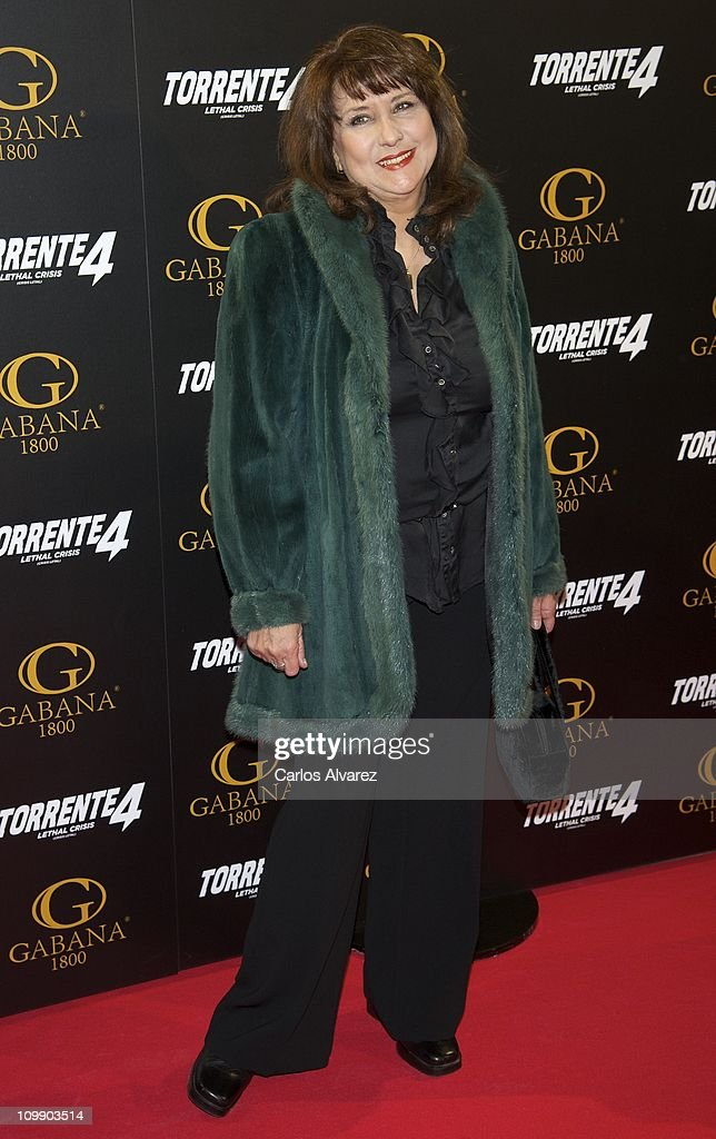 Spanish actress Soledad Mallol attends 'Torrente 4' premiere at the Capitol cinema on March 9, 2011 in Madrid, Spain.