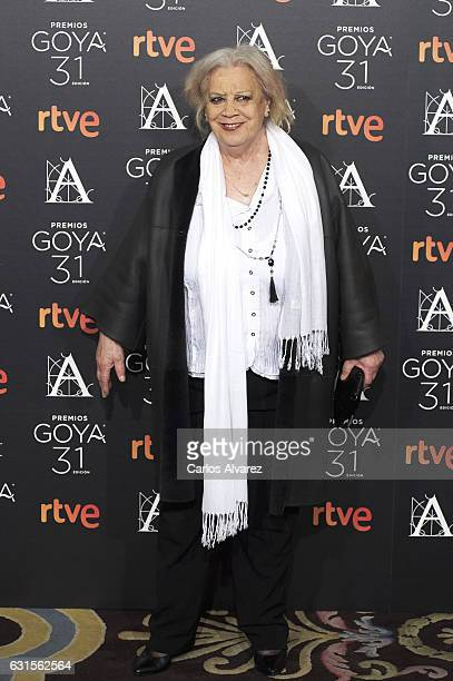 Spanish actress Terele Pavez attends the Goya cinema awards candidates 2016 cocktail at the Ritz Hotel on January 12 2017 in Madrid Spain