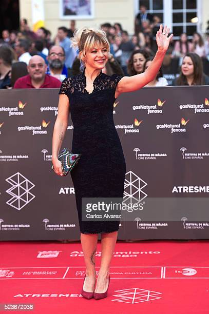 Spanish actress Thais Blume attends 'La Punta del Iceberg' premiere at the Cervantes Theater during the 19th Malaga Film Festival 2016 Day 2 on April...