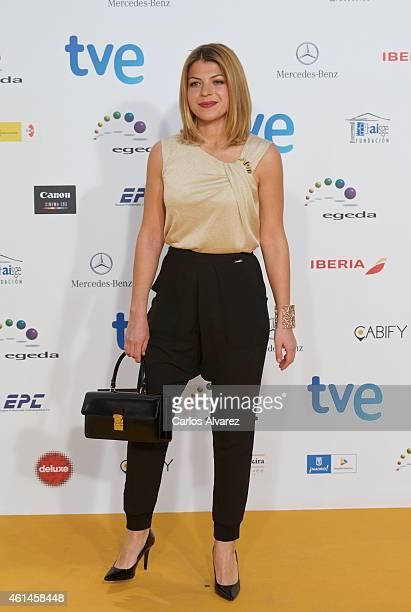 Spanish actress Thais Blume attends the 20th Jose Maria Forque cinema awards at the Palacio Municipal de Congresos on January 12 2015 in Madrid Spain