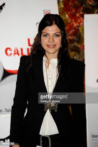 Spanish actress Thais Blume attends the 'Luna Caliente' photocall at the Palafox cinema on February 2 2010 in Madrid Spain