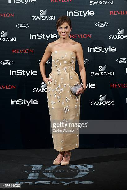 Spanish actress Toni Acosta attends the In Style Magazine 10th Anniversary party at the Melia Fenix Hotel on October 21 2014 in Madrid Spain