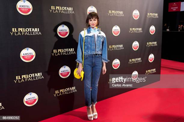 Spanish actress Ursula Corbero attends 'El Pelotari Y La Fallera' premiere at the Callao cinema on April 5 2017 in Madrid Spain