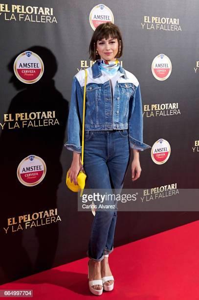 Spanish actress Ursula Corbero attends 'El Pelotari Y La Fallera' premiere at the Callao cinema on April 5 2017 in Madrid Spain