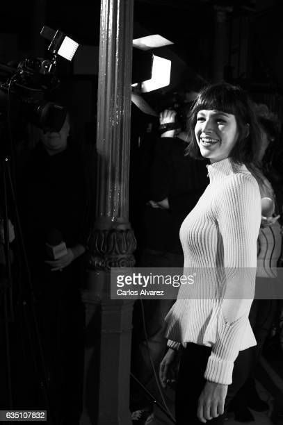 Spanish actress Ursula Corbero attends 'Entradas Ymas' presentation at the Lara Theater on February 13 2017 in Madrid Spain