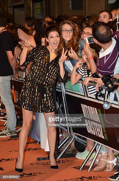 Spanish actress Ursula Corbero attends 'Isabel' 3rd season premiere during the FesTVal 2014 on September 1 2014 in VitoriaGasteiz Spain