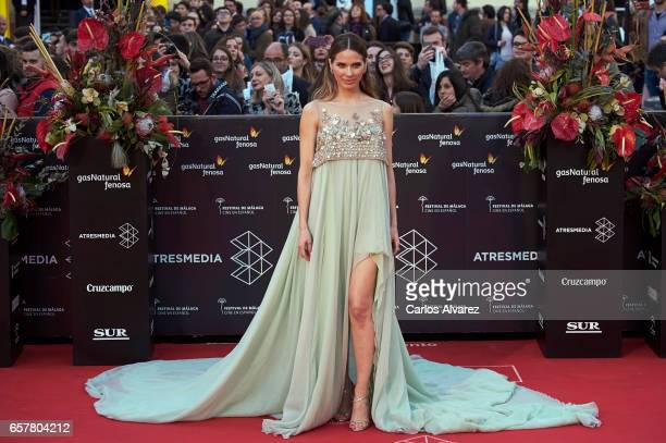 Spanish actress Vanesa Romero attends the 20th Malaga Film Festival closing ceremony at the Cervantes Teather on March 25 2017 in Malaga Spain