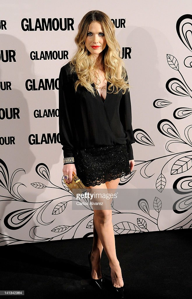 Spanish actress Vanessa Romero attends 'Glamour' beauty awards 2012 at Pacha Club on March 14, 2012 in Madrid, Spain.