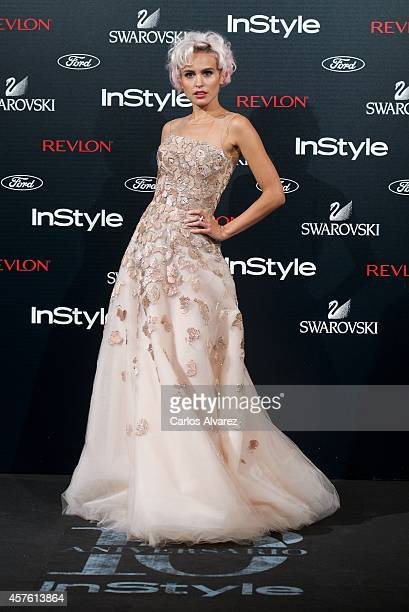 Spanish actress Veronica Echegui attends the In Style Magazine 10th Anniversary party at the Melia Fenix Hotel on October 21 2014 in Madrid Spain