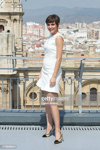 Spanish actress Veronica Echegui receives the L'Oreal Beauty award during the 17th Malaga Film Festival at the AC Hotel on March 21 2014 in Malaga...