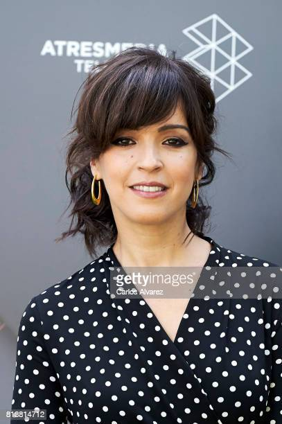 Spanish actress Veronica Sanchez attends 'Tiempos De Guerra' at Antena 3 Television on July 13 2017 in Madrid Spain