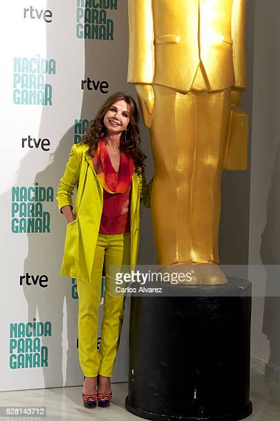 Spanish actress Victoria Abril attends 'Nacidas Para Ganar' photocall at the Eurobuilding Hotel on May 04 2016 in Madrid Spain