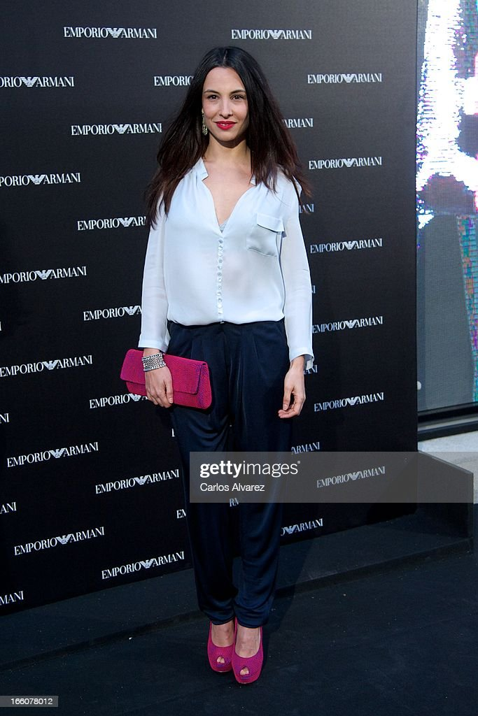 Spanish actress Xenia Tostado attends the Emporio Armani Boutique opening on April 8, 2013 in Madrid, Spain.