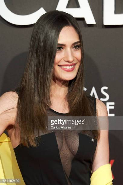 Spanish actress Yara Puebla attends 'Las Chicas Del Cable' premiere at the Callao cinema on April 27 2017 in Madrid Spain
