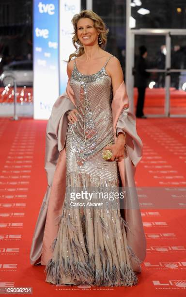 Spanish actresse Anne Igartiburu arrives to the 2011 edition of the 'Goya Cinema Awards' ceremony at Teatro Real on February 13 2011 in Madrid Spain