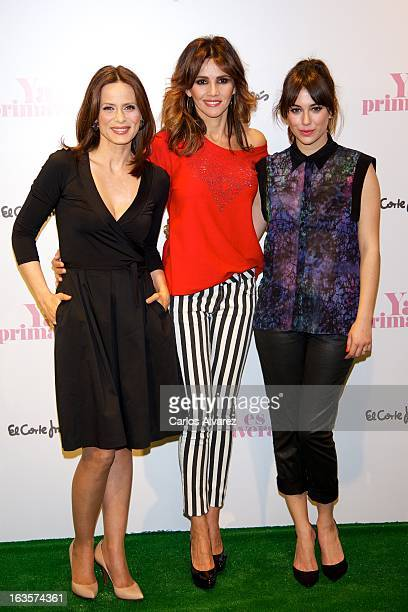 Spanish actresses Aitana Sanchez Gijon Goya Toledo and Blanca Suarez launch the new Spring campaing 2013 at the El Corte Ingles Castellana store on...