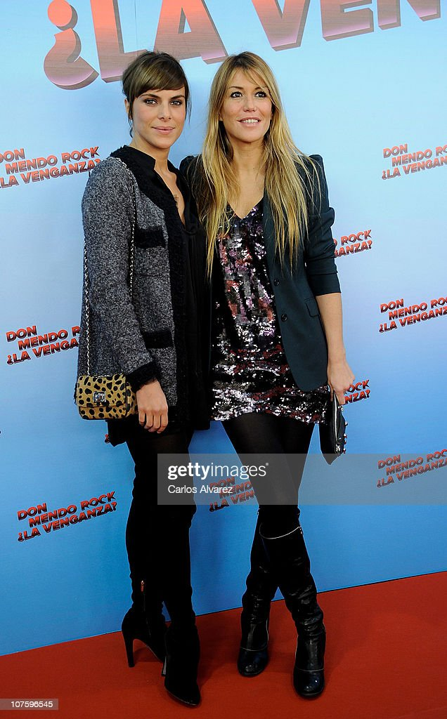 Spanish actresses Candela Arroyo and Raquel Merono attend 'Don Mendo Rock ¿La Venganza' premiere at Proyecciones cinema on December 14 2010 in Madrid...