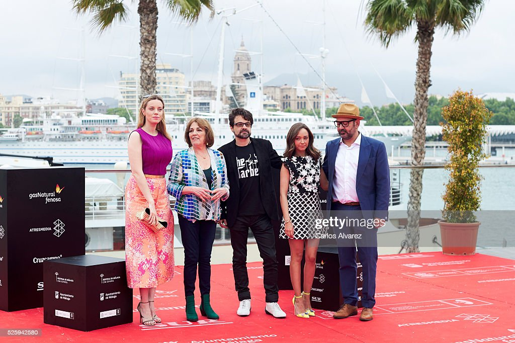 Spanish actresses <a gi-track='captionPersonalityLinkClicked' href=/galleries/search?phrase=Carolina+Bang&family=editorial&specificpeople=6724200 ng-click='$event.stopPropagation()'>Carolina Bang</a>, <a gi-track='captionPersonalityLinkClicked' href=/galleries/search?phrase=Carmen+Maura&family=editorial&specificpeople=577903 ng-click='$event.stopPropagation()'>Carmen Maura</a>, director Pedro Barbero, actress Lucia de la Fuente and actor Jose Corbacho attend 'El Futuro Ya No Es Lo Que Era' photocall during the Malaga Film Festival on April 29, 2016 in Malaga, .