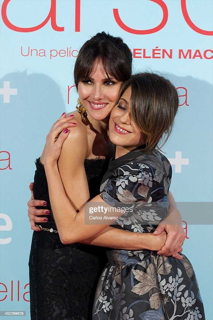 Spanish actresses Goya Toledo and Maria Leon attend the 'Marsella' premiere at the Capitol cinema on July 17 2014 in Madrid Spain