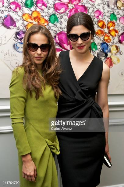 Spanish actresses Irene Escolar and Barbara Lennie attend 'Bvlgari' private dinner at Club Allard on March 20 2012 in Madrid Spain
