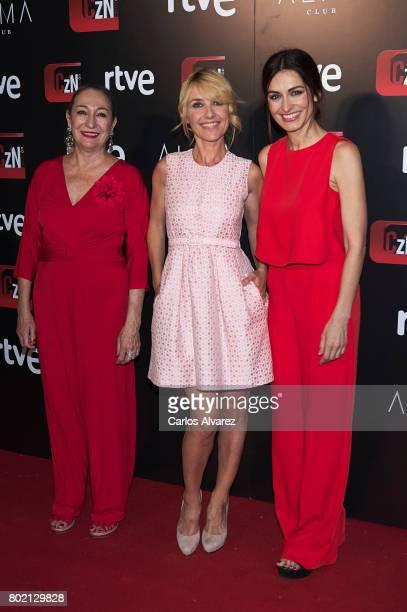 Spanish actresses Luisa Gavasa Cayetana Guillen Cuervo and Susana Cordoba attend 'Corazon' TV programme 20th Anniversary at the Alma club on June 27...