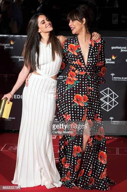 Spanish actresses Macarena Garcia and Belen Cuesta attend the 'Amar' premiere during the 20th Malaga Film Festival 2017 Day 3 at the Cervantes...